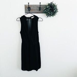 Rebecca Taylor Black Wrap Top Dress 6